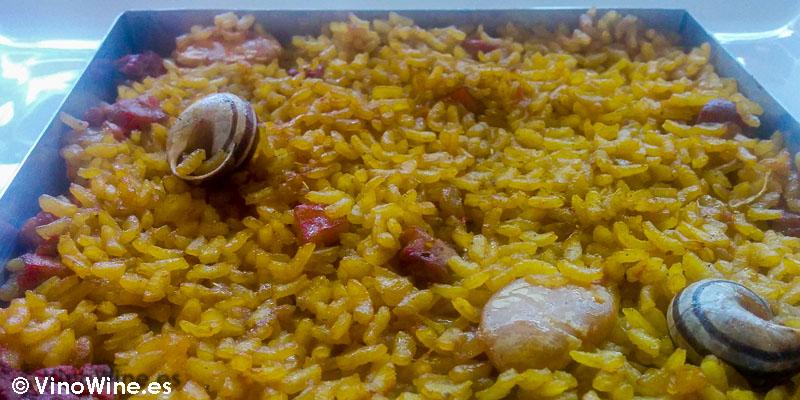 Arroz de conejo y caracoles chinorlet style en el Restaurante L'Amagatall de Tota en Alcoy