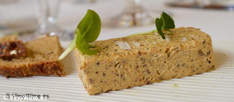 Turrón de foie en el Restaurante L'Amagatall de Tota de Alcoy