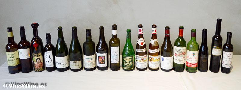 Vinos bebidos por los Bojos pel Vi en el Restaurante L'Amagatall de Tota en Alcoy
