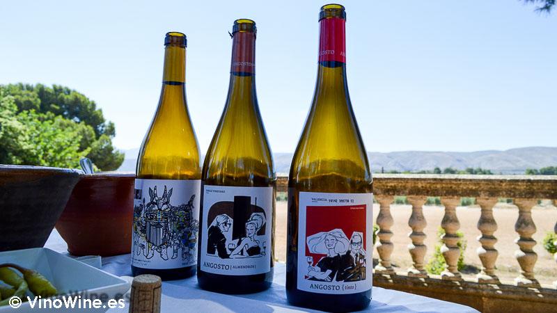 Vinos tintos catados en Bodega El Angosto Finca Sta Rosa en Ontinyent