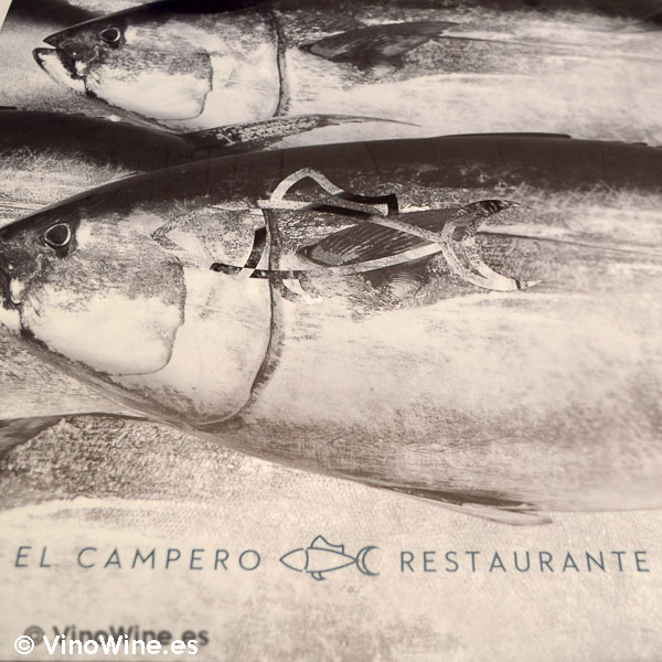Portada de la carta del Restaurante El Campero en Barbate