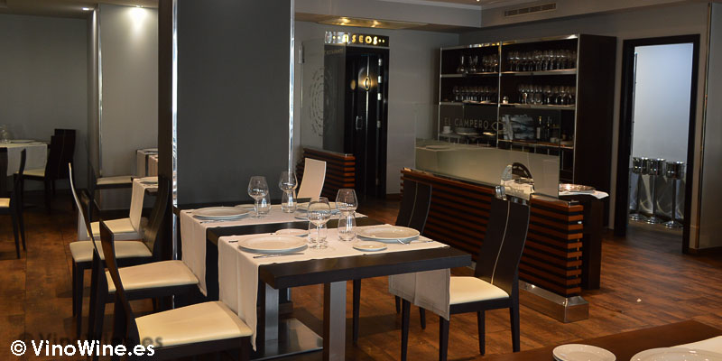 Vista parcial de la sala del Restaurante El Campero de Barbate