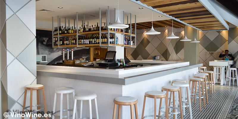 Zona de barra del Restaurante El Campero en Barbate