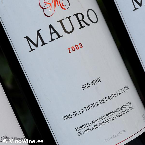 Cata Vertical del vino Mauro, cosecha 2003