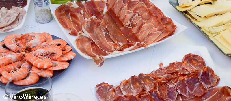 Comida típica de Fira de Tots Sants de Cocentaina para la Cata Vertical de Mauro