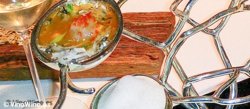 El Coral, plato del Restaurante de El Celler de Can Roca