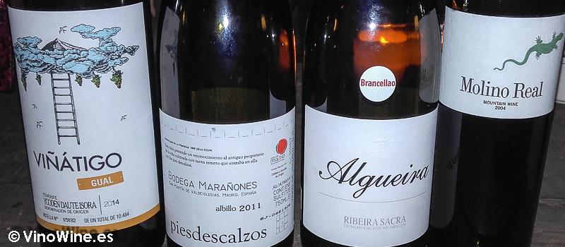 Los vinos degustados en el Restaurante El Celler de Can Roca