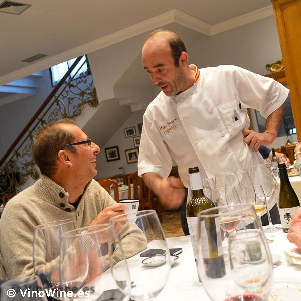 Marco Antonio, maestro asador del restaurante Mannix en Campaspero provincia de Valladolid