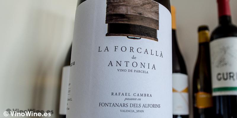 La Forcalla de Antonia 2014, uno de los 10 vinos valencianos seleccionados por Jose Ruiz