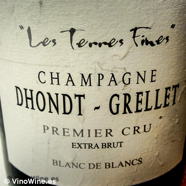 Champagne Dhondt-Grellet Les Terrres Fines, bebido en el Restaurante Entrevins de Valencia