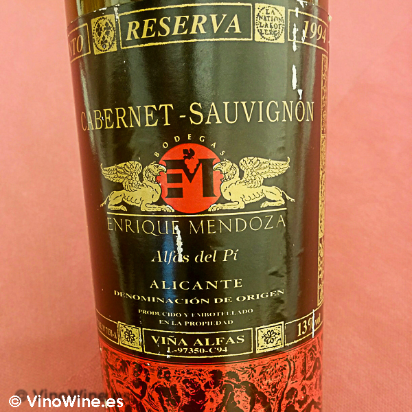 Cabernet Sauvignon Reserva 1994 catado en la I Mendozas Wine Lovers Edition by Bodegas Mendoza