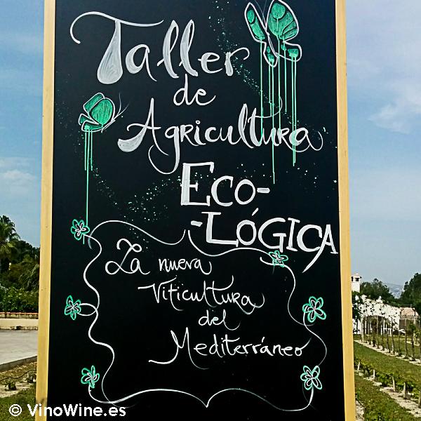 Cartel anunciado del Taller de agricultura ecológica en la I Mendozas Wine Lovers Edition by Bodegas Mendoza