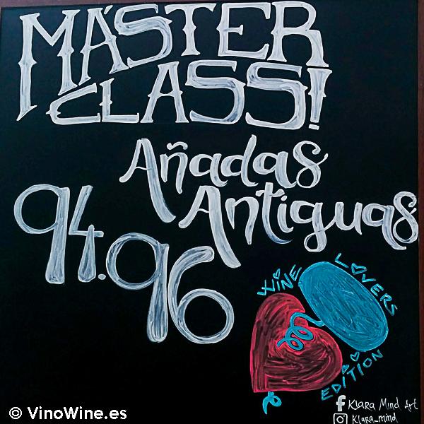 Cartel anunciador de la Master Class de añadas antiguas en la I Mendozas Wine Lovers Edition by Bodegas Mendoza