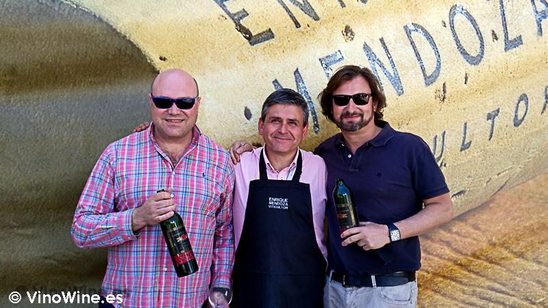 Jose Ruiz, Javier Lopez Lorenzo y Jose Enrique en la I Mendozas Wine Lovers Edition by Bodegas Mendoza