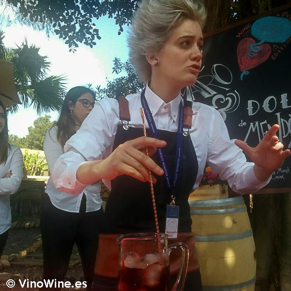 Marina Canales creadora del coctel Amaro-Dolc en la I Mendozas Wine Lovers Edition by Bodegas Mendoza