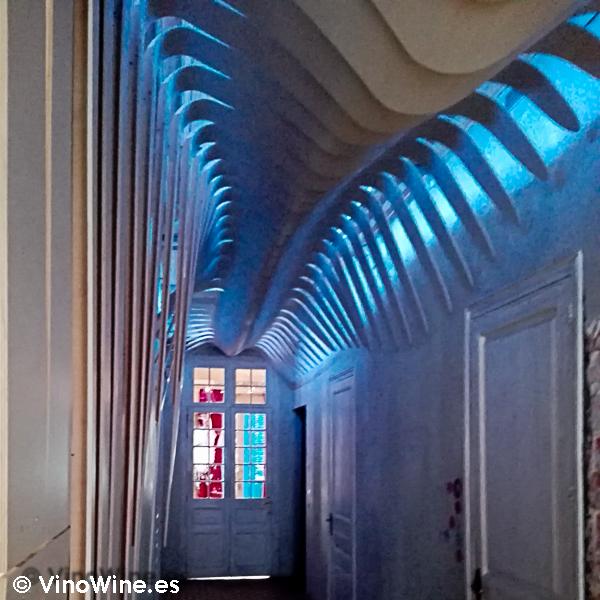 Pasillo de acceso a la sala del Restaurante Alkimia de Barcelona