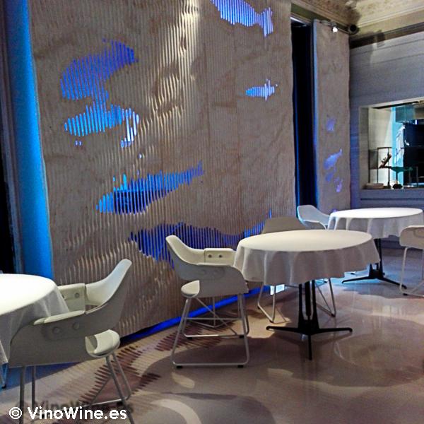 Vista parcial de la sala del Restaurante Alkimia de Barcelona