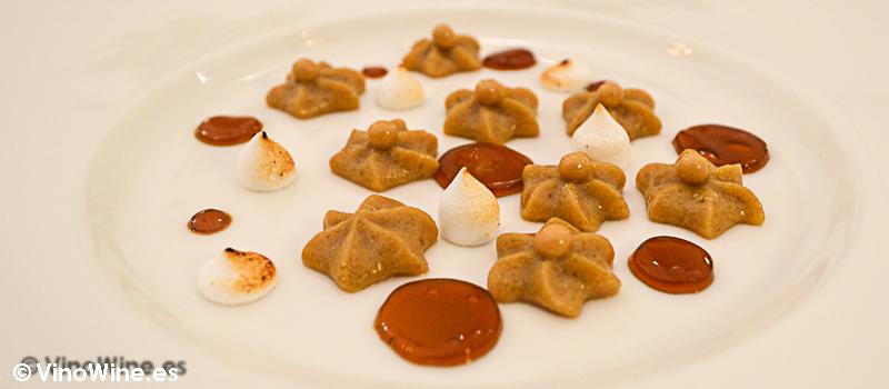 Crema de raiz de achicoria y whisky DYC 8 años del Restaurante Villena en Segovia