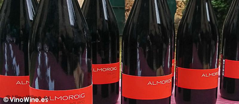Detalle de las botellas de la Cata vertical Almoroig 2004 al 2008