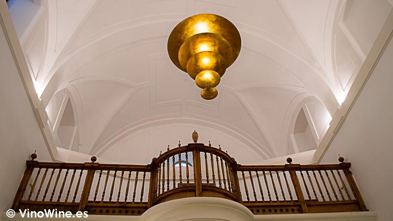 Detalle del antiguo coro del Restaurante Villena de Segovia