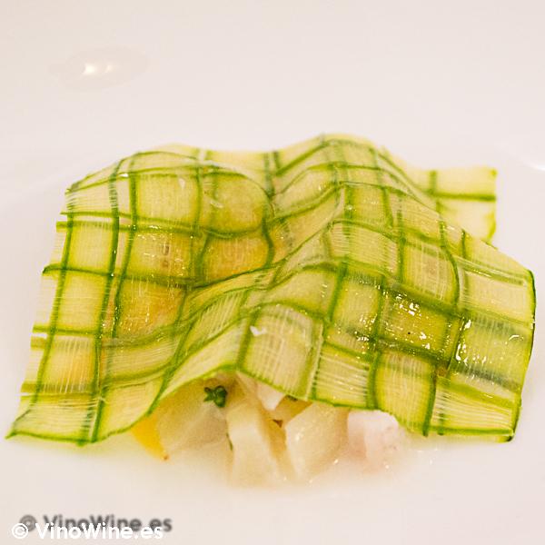 Esparragos, anguila ahumada y estragón Restaurante Villena de Segovia