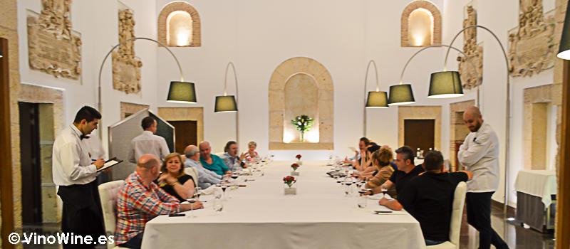 Mesa Imperail que nos prepararon en el Restaurante Villena en Segovia