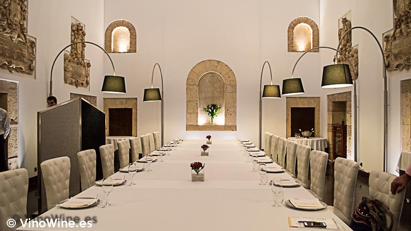 Mesa Imperial que nos prepararon en el Restaurante Villena de Segovia