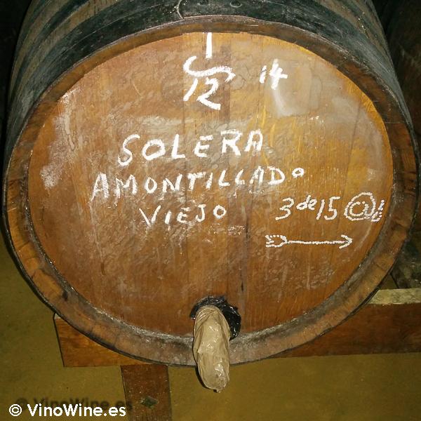 Bota Solera Amontillado Viejo Bodegas Urium de Jerez