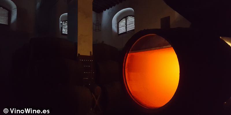 Interior de Los Angeles de Bodegas Yuste en Sanlucar de Barrameda
