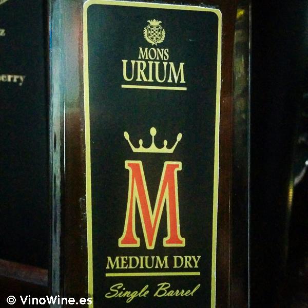 Medium Dry de Bodegas Urium de Jerez Ganador Copa Jerez
