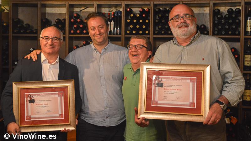 Reconocimiento al Restaurante El Riscal y a la Bodega Valle del Botijas por parte de los Restauranteros