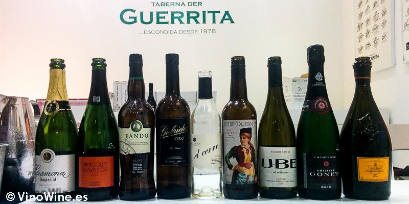 Vinos bebidos en la Taberna der Guerrita de Sanlucar en el Tour Bojos Pel Vi Marco de Jerez