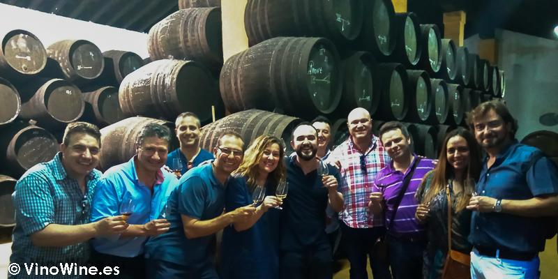 Visita de Bojos pel Vi a Bodegas Urium de Jerez