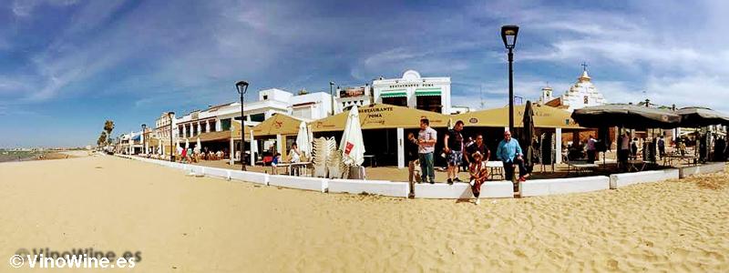 Vistas del Restaurante Avante Claro de Sanlucar en el Tour Bojos Pel Vi Marco de Jerez