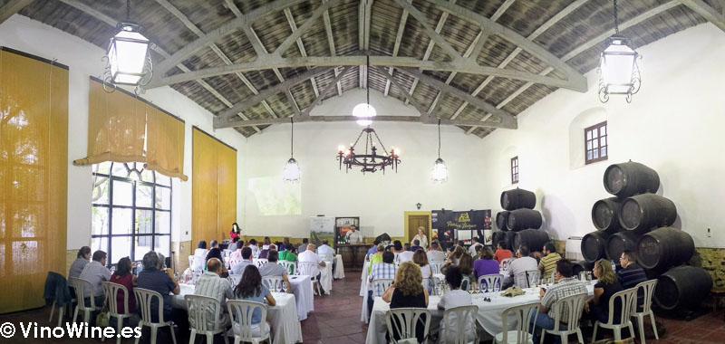 Cata realizada en la Bodega Perez Barquero visitada en el Encuentro Verema Montilla Moriles