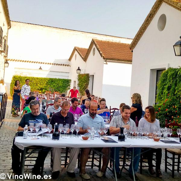 Cata vespertina en Bodegas Alvear visitada en el Encuentro Verema Montilla Moriles