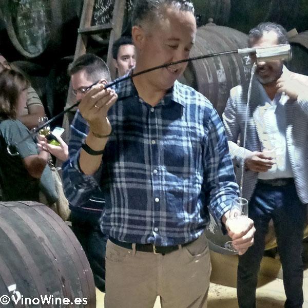 Francisco muñoz gerente de la Bodega Toro Albala visitada en el Encuentro Verema Montilla Moriles