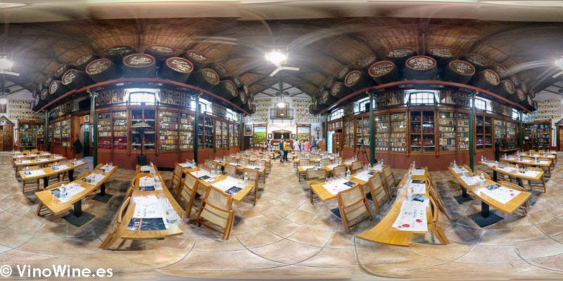 Precisoa sala de catas de la Bodega Toro Albala visitada en el Encuentro Verema Montilla Moriles