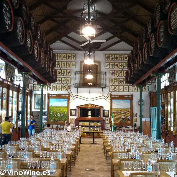 Sala de Catas de la Bodega Toro Albala visitada en el Encuentro Verema Montilla Moriles
