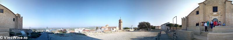 Vistas desde el Castillo de Montilla primer evento dentro del Encuentro Verema Montilla Moriles