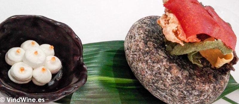 Crujientes y Brandada de bacalao del Restaurante La Candela de Madrid