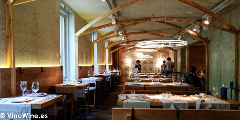 Detalle de la Sala principal del Restaurante La Bien Aparecida de Madrid