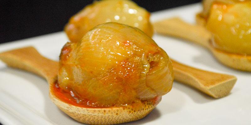 Cebollita rellena de Casa Gerardo en Asturias