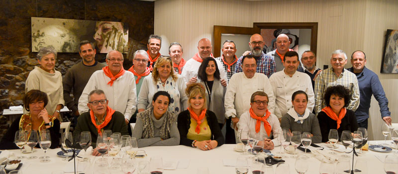 Foto Finish de los Restauranteros de la comida de Casa Gerardo en Asturias