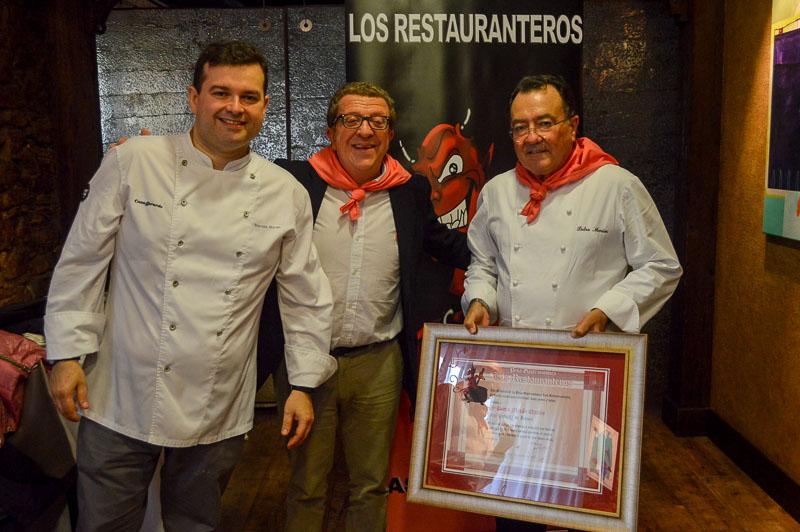 Perdro y Marcos Moran de Casa Gerardo en Asturias junto a Isaac Aguero