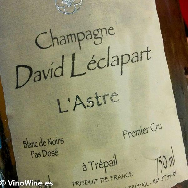 Champagne David Leclapart lastre degustado en el Restaurante DiverXO en Madrid