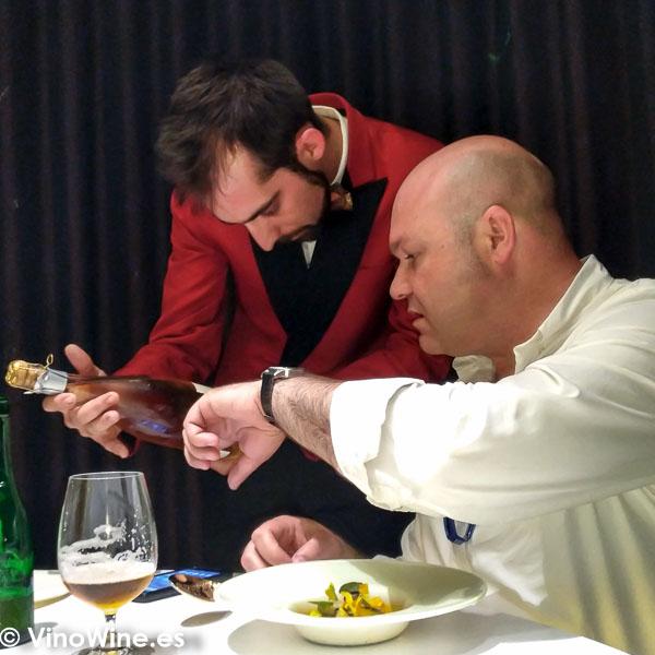 Jose Ruiz con Javier Arroyo en el Restaurante DiverXO en Madrid