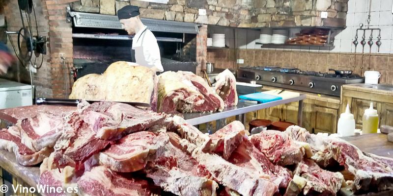 Cocina de El Capricho de León Restaurante especialista en buey