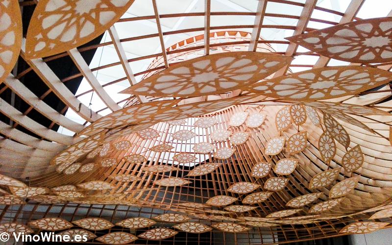 Precioso detalle decorativo del techo del Restaurante Noor de Paco Morales en Cordoba