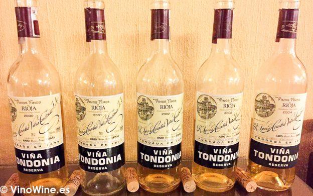 Cata Vertical a ciegas del vino Tondonia Blanco Reserva del 2000 al 2004